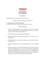 Einladung Tagesordnung - Strabag AG