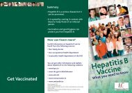 Hepatitis B Vaccine - What you need to know - Health Protection ...