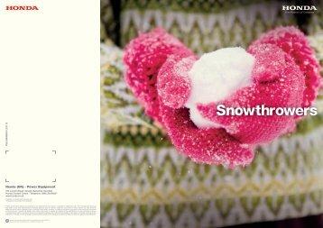 Snowblowers - Just Honda