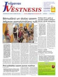 Bērnudārzi un skolas saņem Jelgavas pamatzināšanu rulli