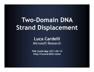 Two-Domain DNA Strand Displacement - Luca Cardelli