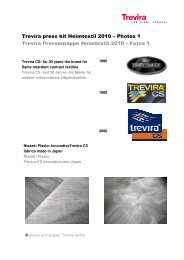 Übersicht mit Bildunterschriften - Trevira GmbH