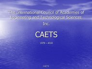 The International Council of Academies of Engineering and ...