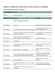 program – windaba 2013, export event to south africa, 23-27 ...