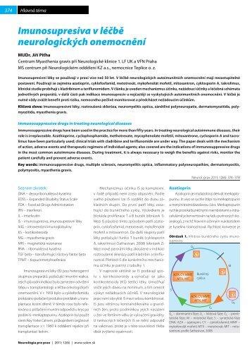 Imunosupresiva v léčbě neurologických onemocnění - snmo.sk
