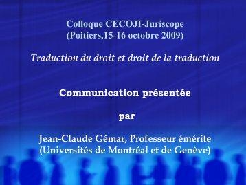 L'équivalence - Université de Poitiers