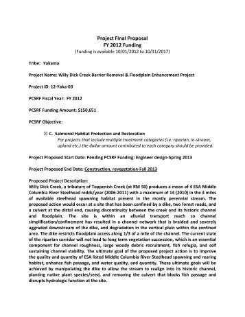 Project Proposal: Thailand - Multilateral Fund For The