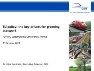 EU policy - The 12th UIC Sustainability Conference