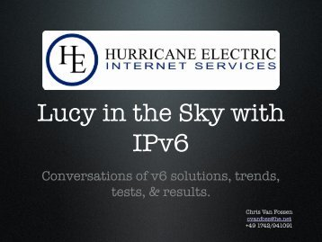 Conversations of v6 solutions, trends, tests, & results. - Cz.NIC