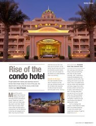 Rise of the condo hotel - UPWARD CURVE