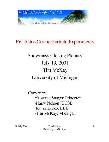 E6 - Supernova Cosmology Project