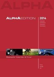 Katalog ALPHA EDITION Kalender 2014 (PDF)