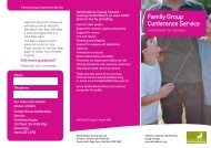 Family Group Conference Service - Hertfordshire County Council