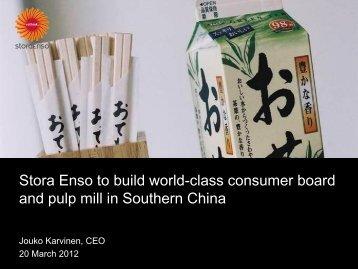 Growth markets - Stora Enso