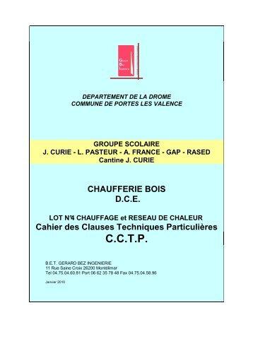 DCE Portes CCTP chaufferie bois - Annoncemarchepublic.fr