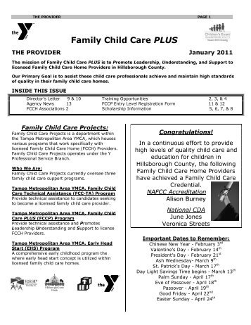 Family Child Care PLUS - Ymca