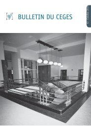 BULLETIN DU CEGES - Centre for Historical Research and ...