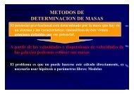 Métodos de determinación de masas
