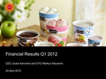 Financial Results Q1 2012 - Stora Enso