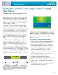 MultiQuant™ Software for Protein/Peptide Quantitation - AB Sciex