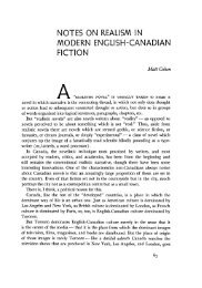 notes on realism in modern english-canadian fiction - University of ...