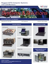 Systems & Solutions Brochure (pdf) - Chassis Plans
