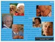 RESPECT Self service answers quality choice - Elder Services of ...