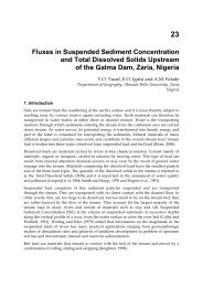 Fluxes in Suspended Sediment Concentration and Total Dissolved ...