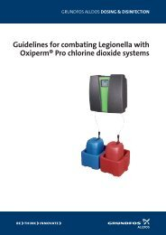 guidelines for combating Legionella with oxiperm® Pro ... - Grundfos