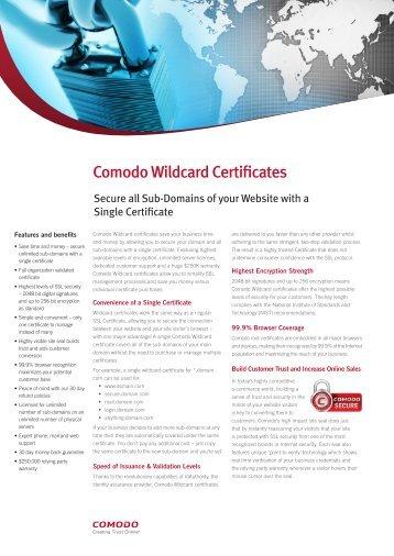 Comodo SSL Wildcard - SSL Certificates