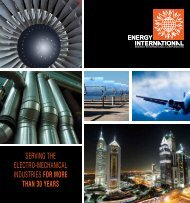 serving the electro-mechanical industries for more than 30 years