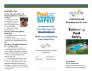 Swimming Pool Safety - the City of Rockford