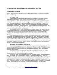 Country Report on Environmental Indicators in Thailand - Inece