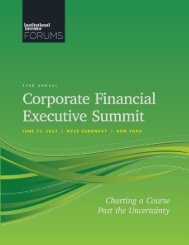 Institutional Investor Forums – Corporate Financial Executive Summit