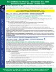 Social Media for Pharma - December 5-8, 2011 - Advanced ... - Page 4
