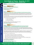 Social Media for Pharma - December 5-8, 2011 - Advanced ... - Page 6