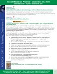 Social Media for Pharma - December 5-8, 2011 - Advanced ... - Page 7