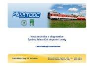 Nová technika v diagnostice Správy železniční ... - Railvolution