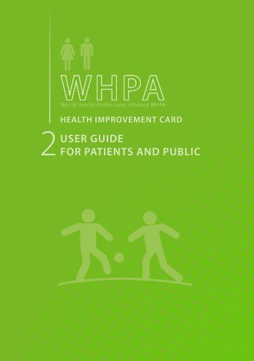 User gUIde for patIents and pUblIC - World Health Professions ...