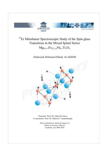 Fe Mössbauer Spectroscopic Study of the Spin-glass Transitions in ...