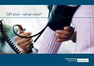 Off sick – what now? - Danica Pension