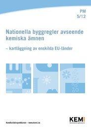 Nationella byggregler avseende kemiska ämnen -kartläggning av ...