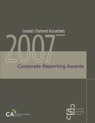 Corporate Reporting Awards 2007 - Canadian Institute of Chartered ...
