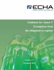 Guidance for Annex V - ECHA - Europa