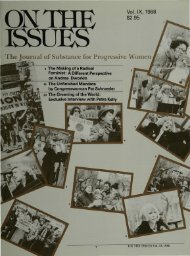 view entire issue in pdf format - On The Issues Magazine