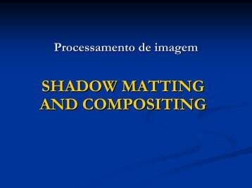 Processamento em imagem