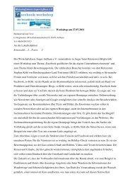 Artikel zum Workshop vom 27.07.2011 - Wirtschaftskreis Anger ...