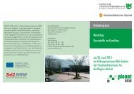 Einladung zum Workshop Kunststoffe im Kanalbau ... -  Trolining GmbH