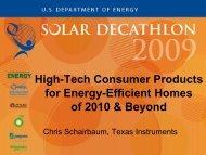 High-Tech Consumer Products for Energy ... - Solar Decathlon