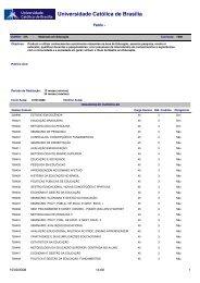 Acessar a Grade Curricular do Curso - Universidade Católica de ...
